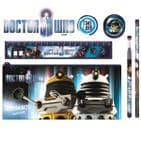 6 Piece Pencil Case School Set 11th DOCTOR WHO Stationery (Blueprint)